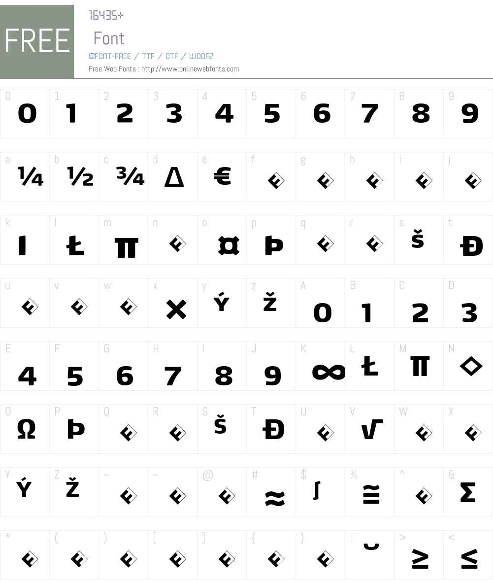 Max-BlackSCExpert Font Screenshots