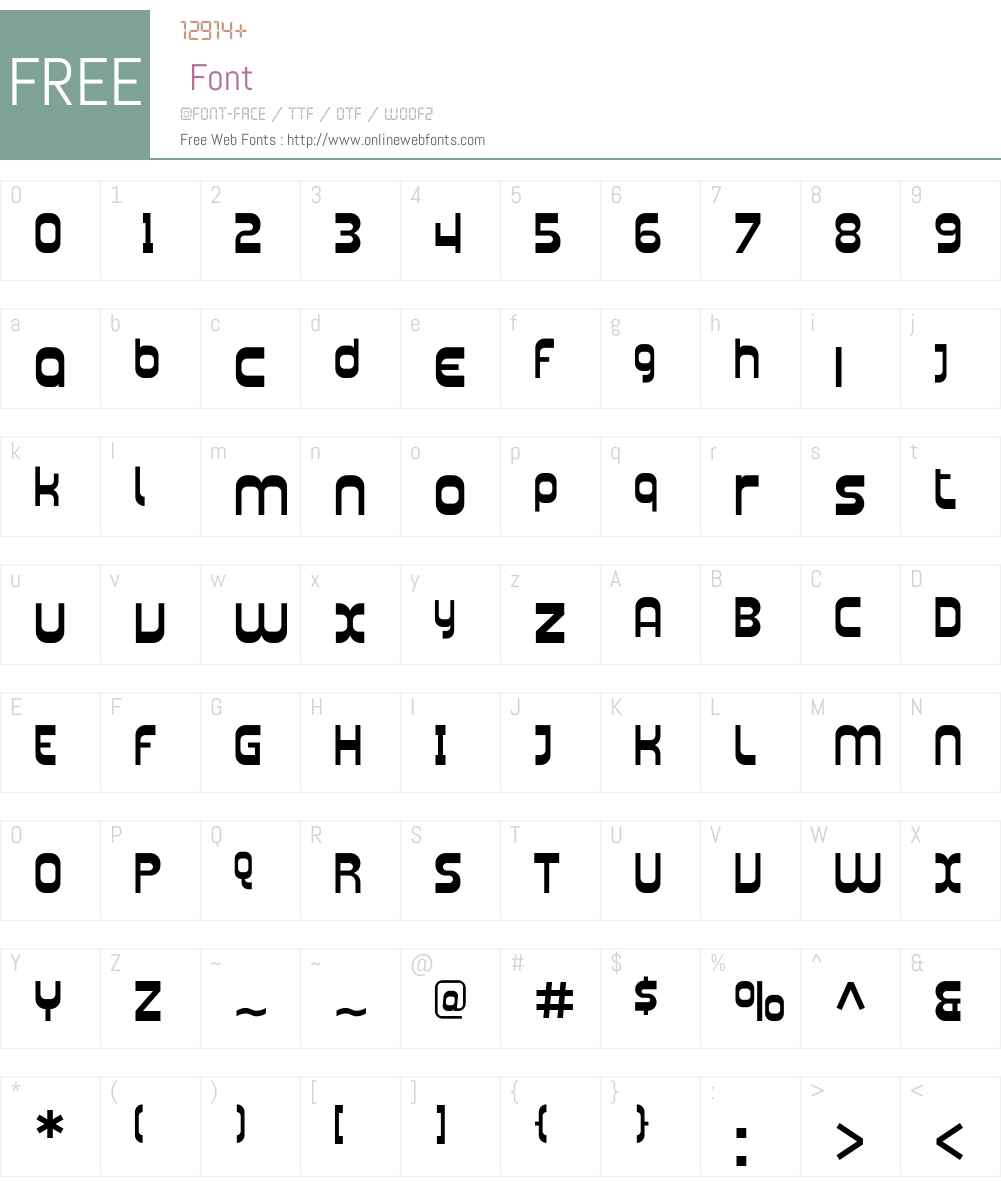 Plasmatica Font Screenshots