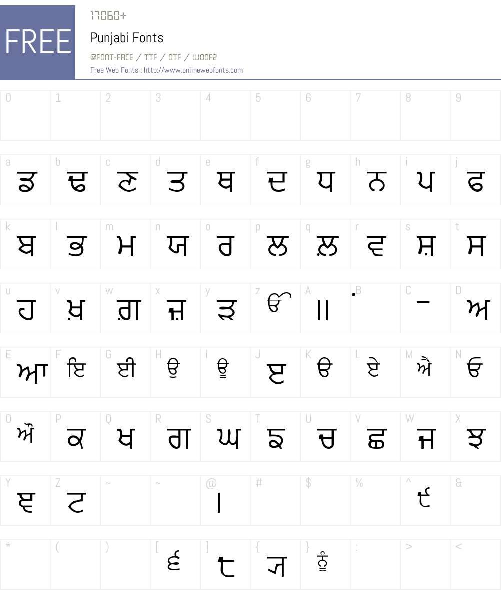 Punjabi Font Screenshots