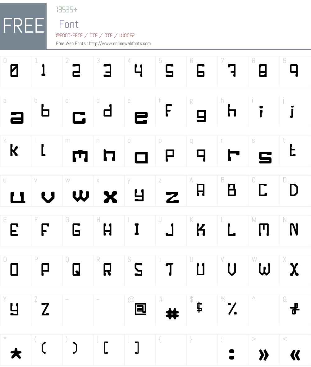 Enilorac gty Font Screenshots
