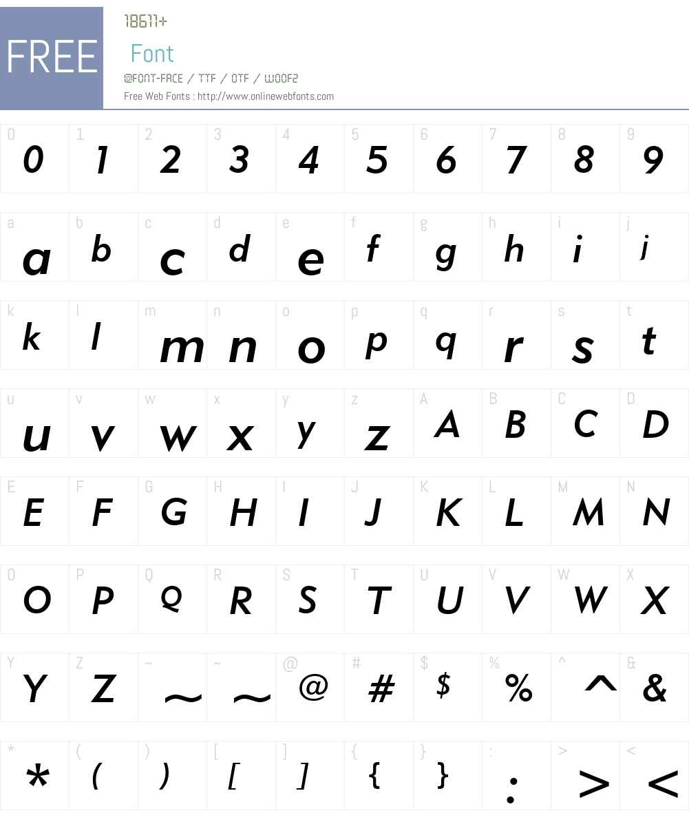 Geometr415 Md BT Font Screenshots