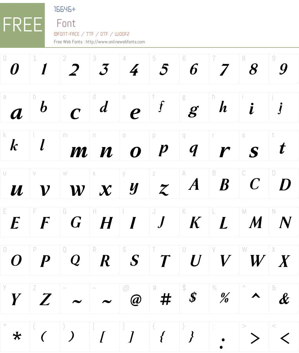 Haverj Font Screenshots