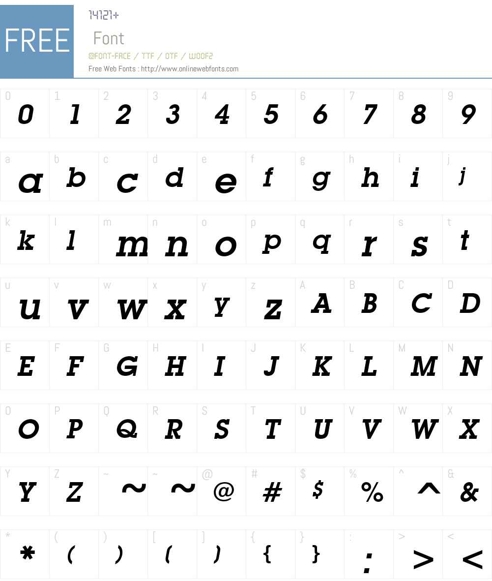 Mason Font Screenshots