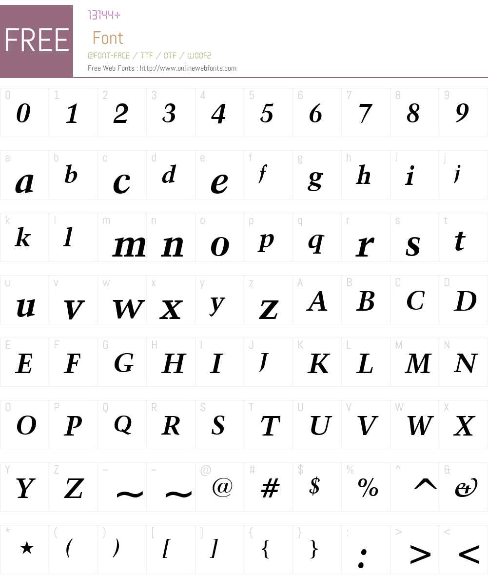 Kuenstler 480 Font Screenshots