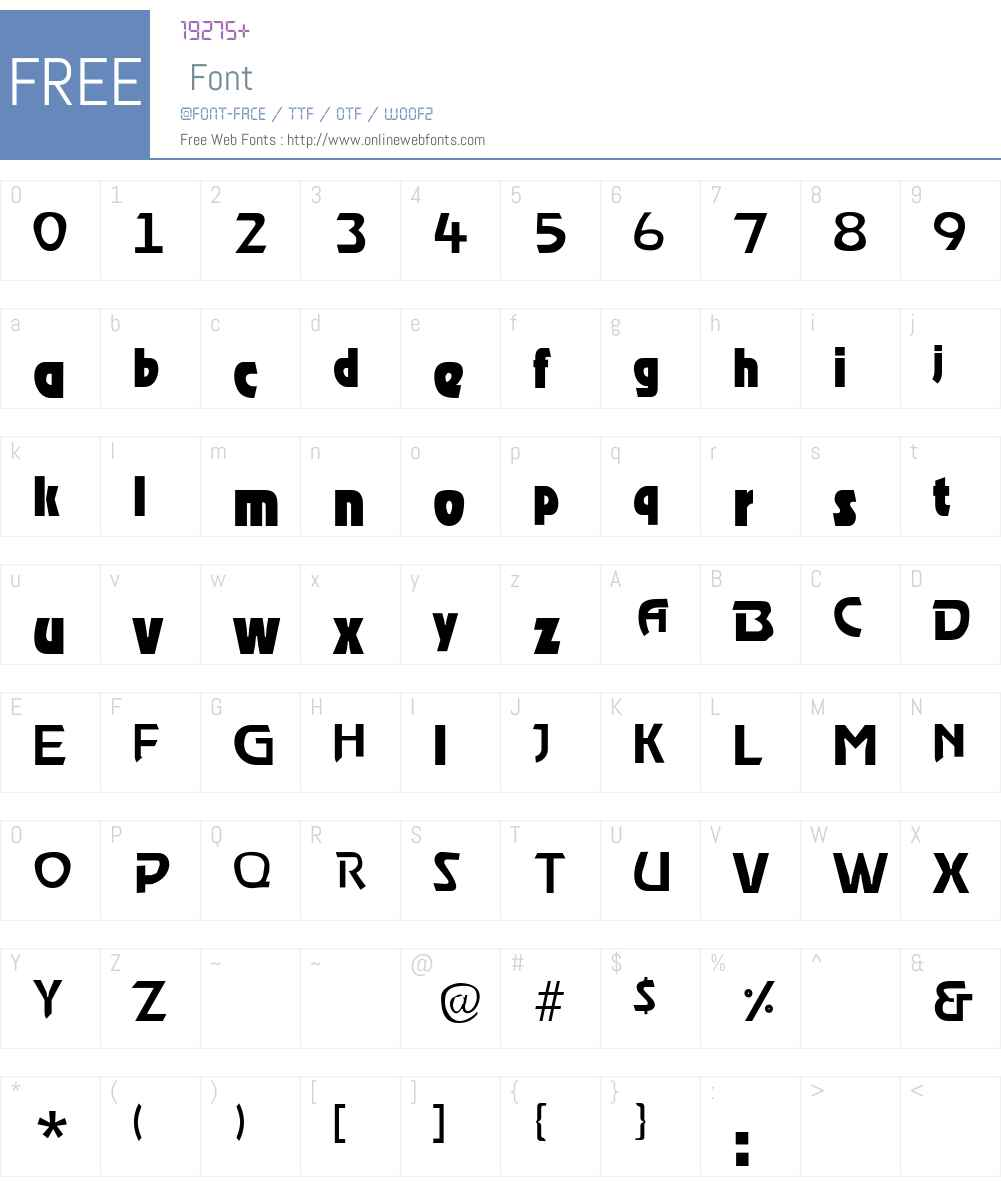 StormLight Font Screenshots