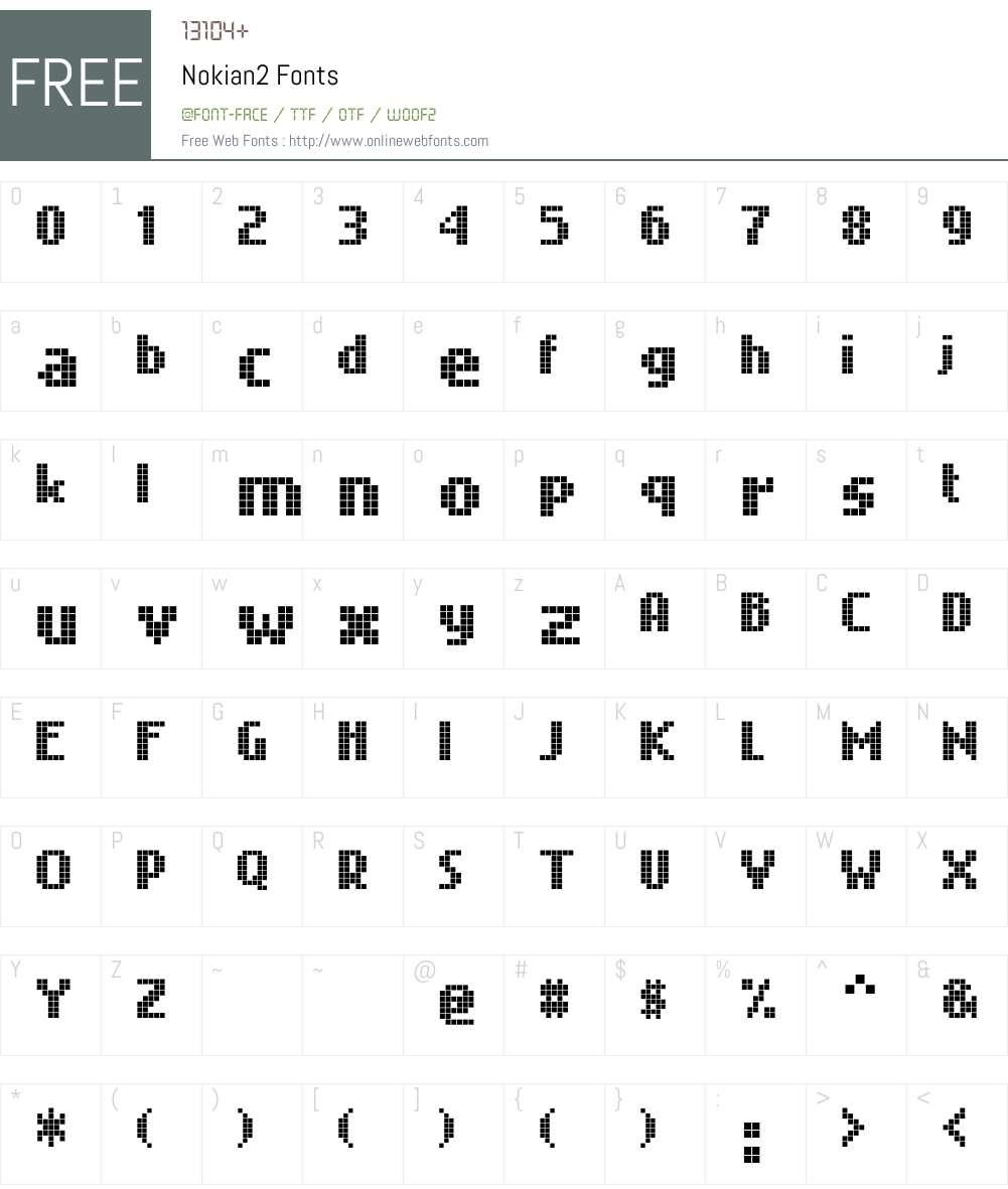 Nokian2 Font Screenshots