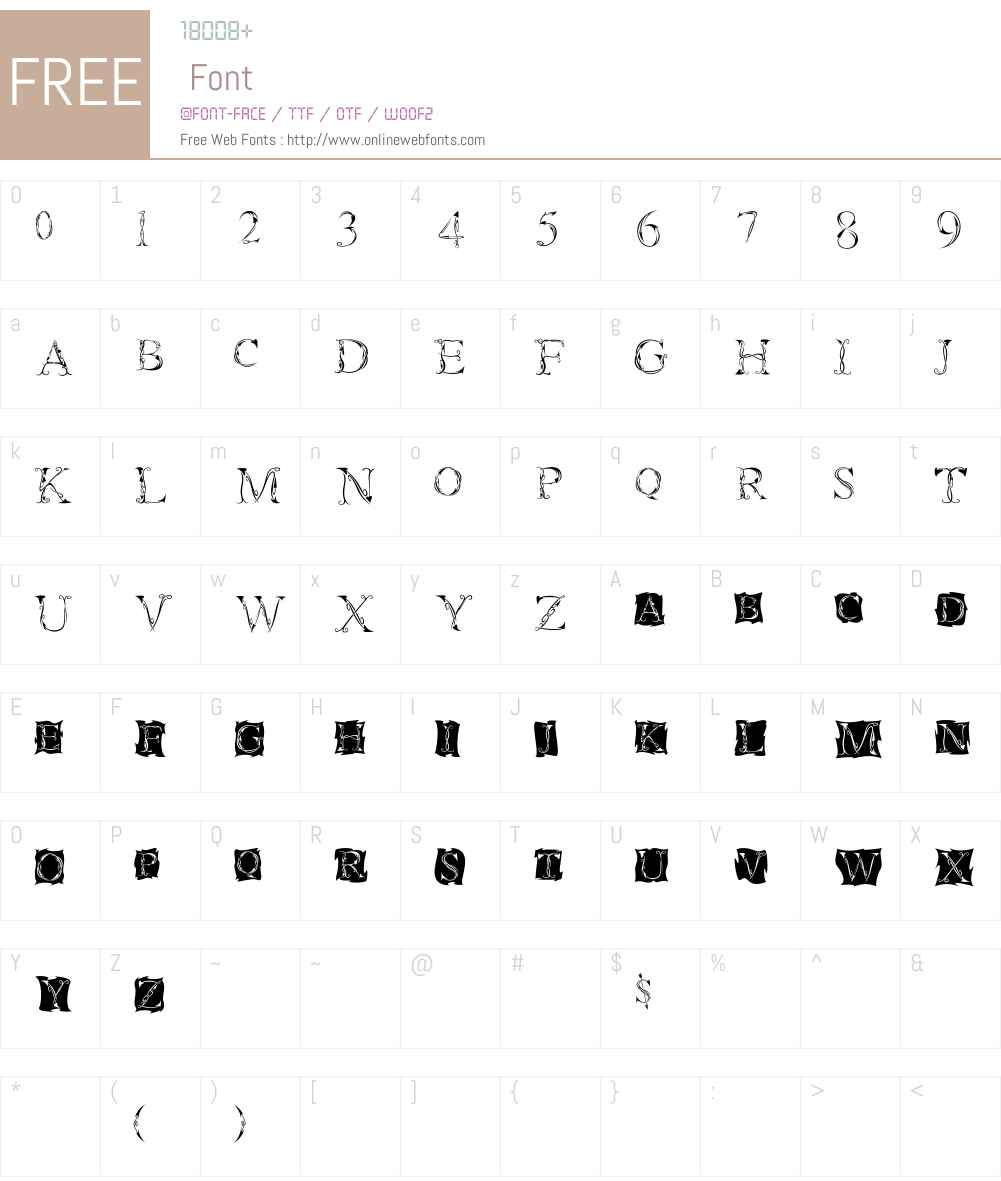 Tatoo Font Screenshots