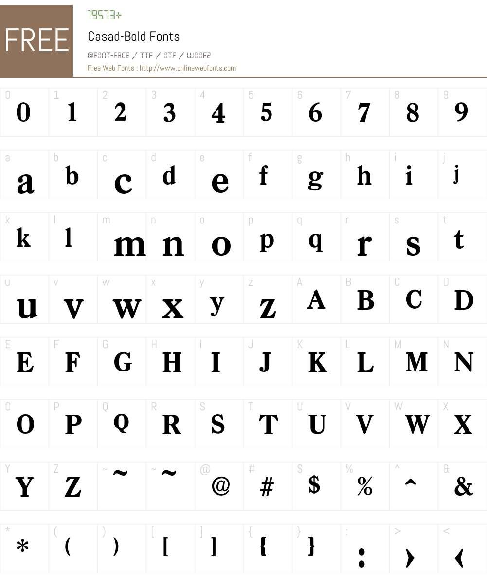 Casad-Bold Font Screenshots