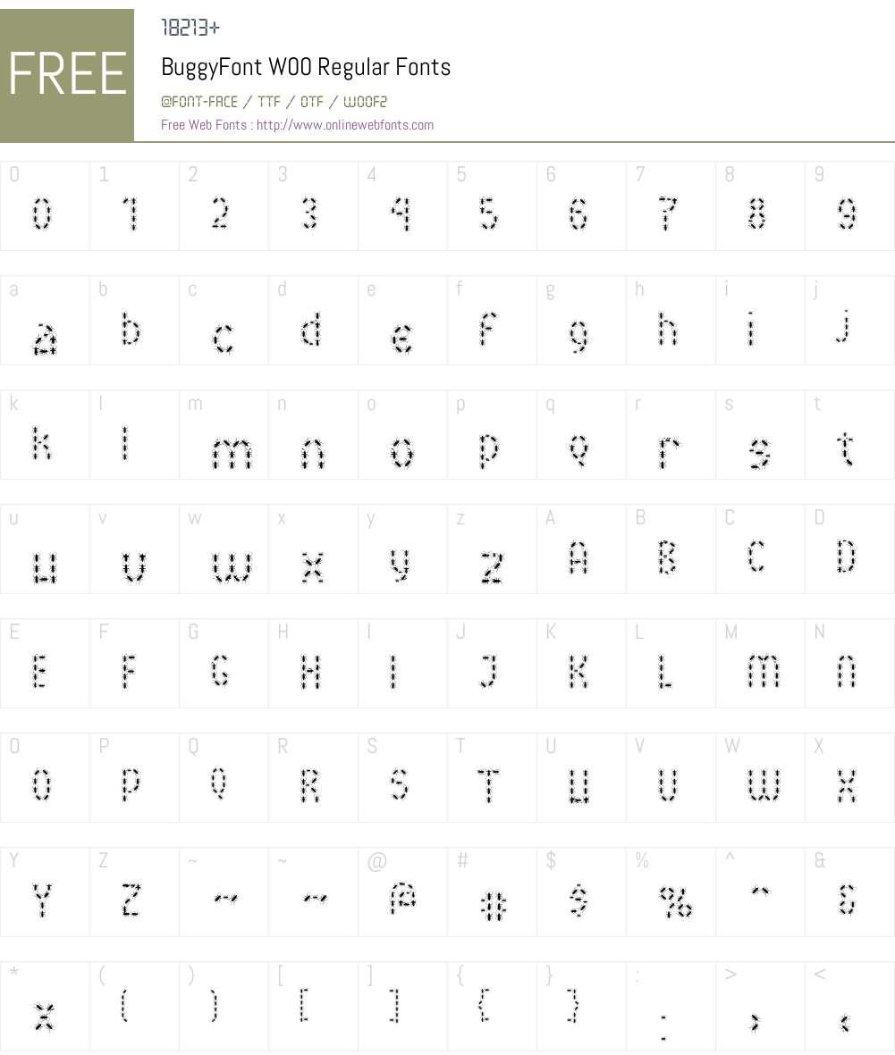 BuggyFontW00-Regular Font Screenshots