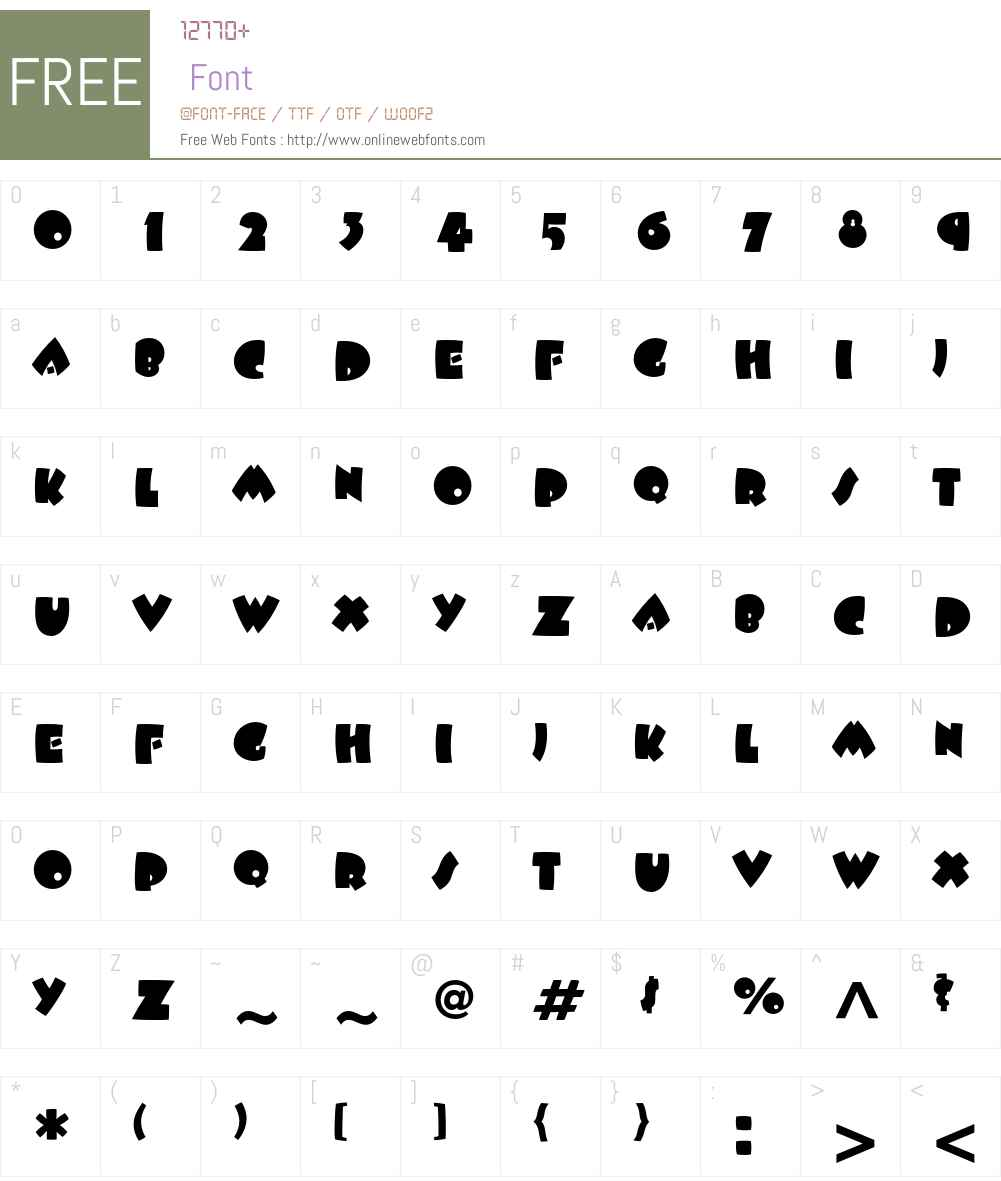 ITC Beesknees Font Screenshots