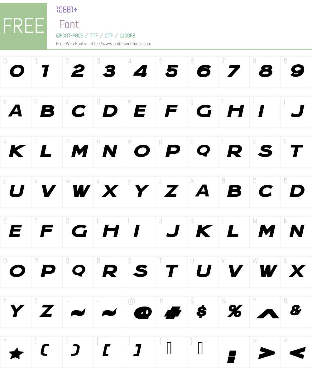 Jera Sans Heavy Italic JL Font Screenshots