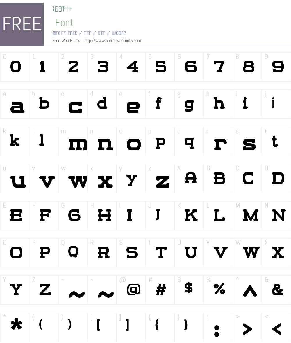 m13W03-Regular Font Screenshots