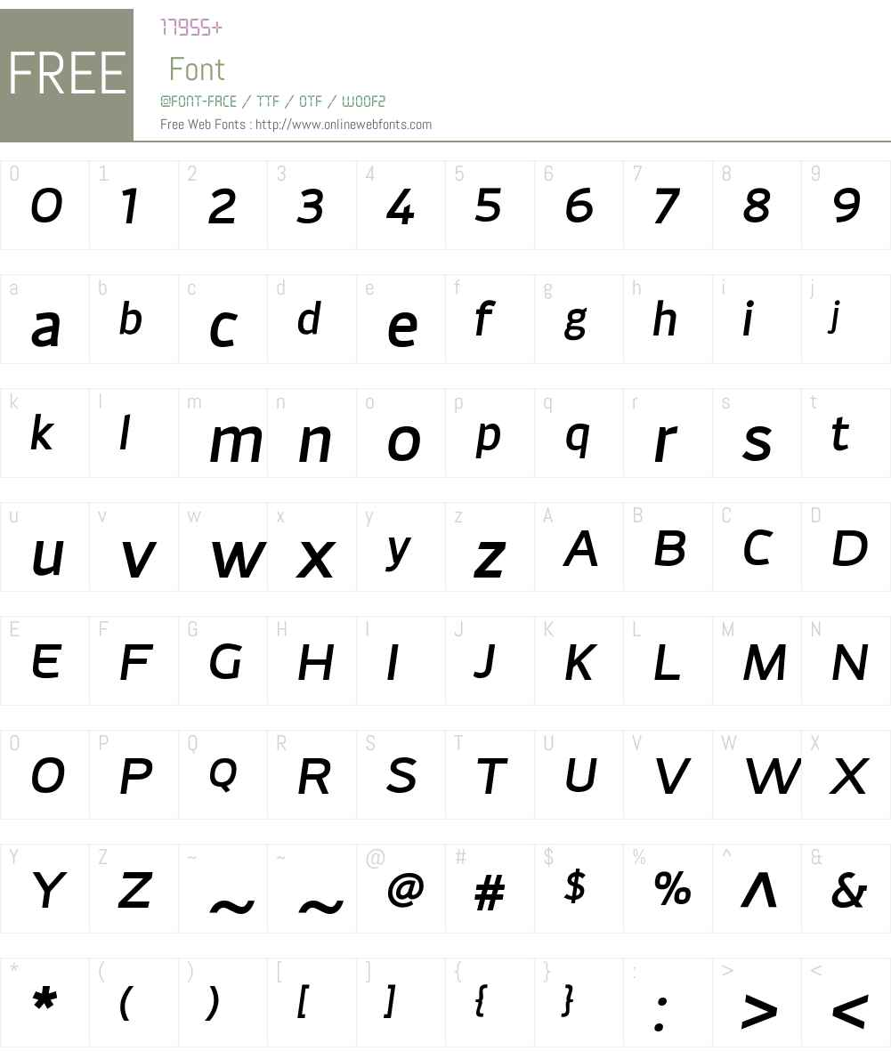 AdonideW01-MediumItalic Font Screenshots