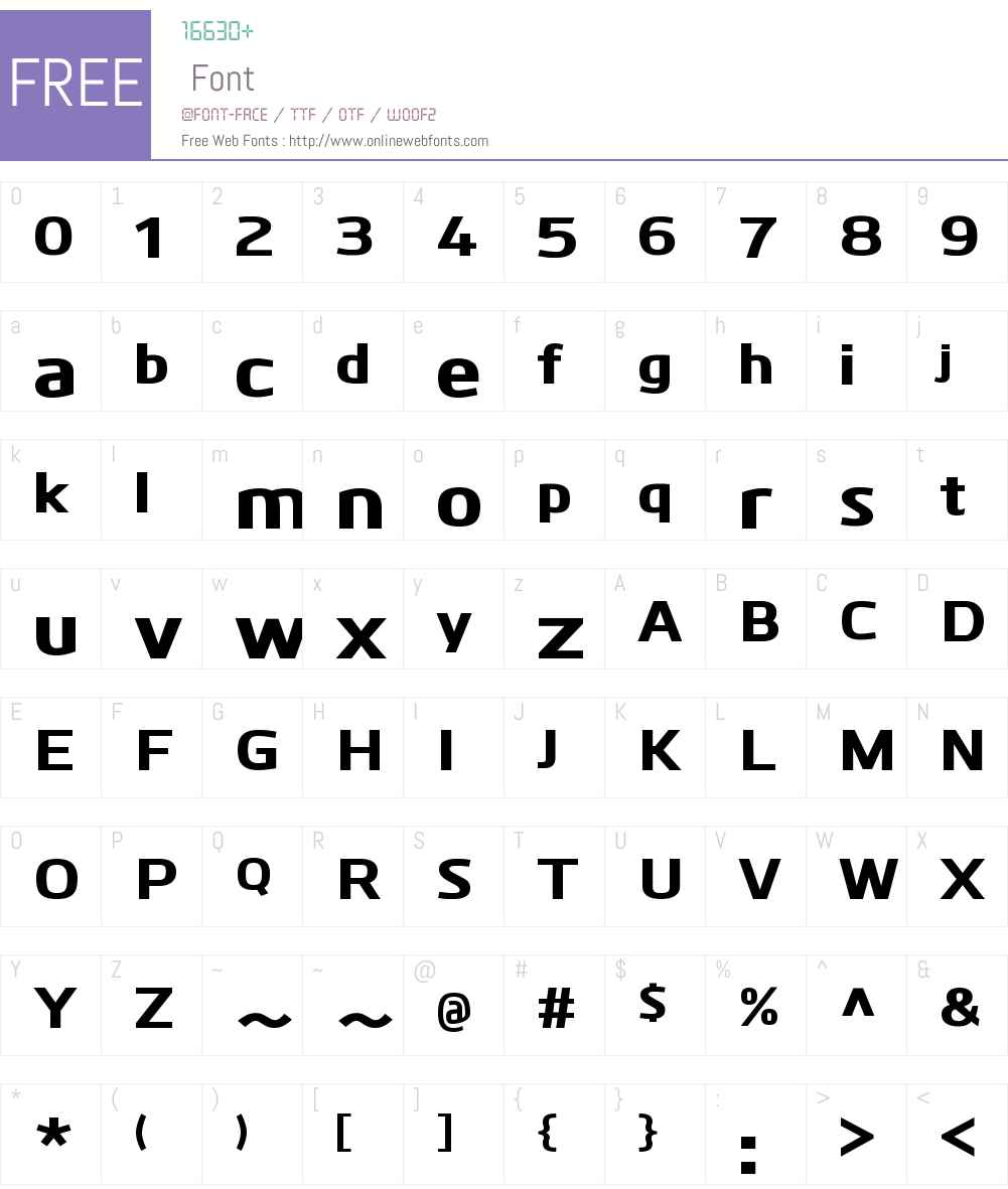 KuroW00-ExtraBold Font Screenshots