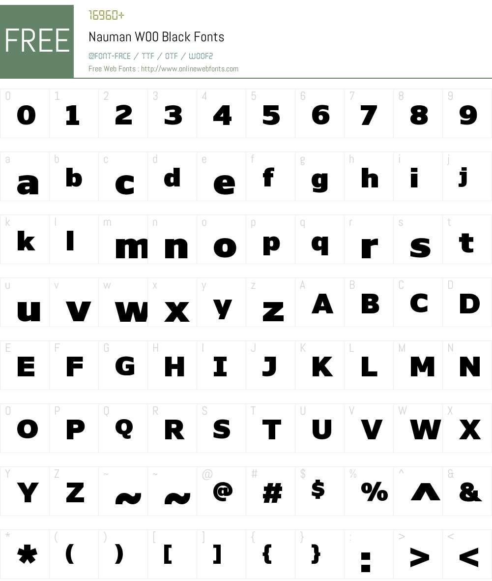 NaumanW00-Black Font Screenshots