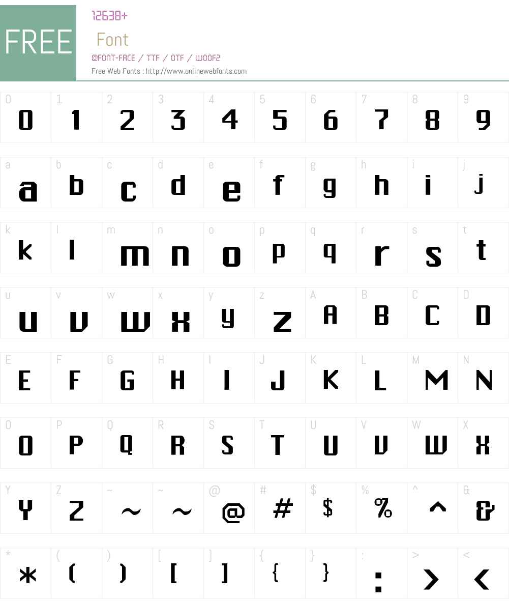 PCHickman Font Screenshots