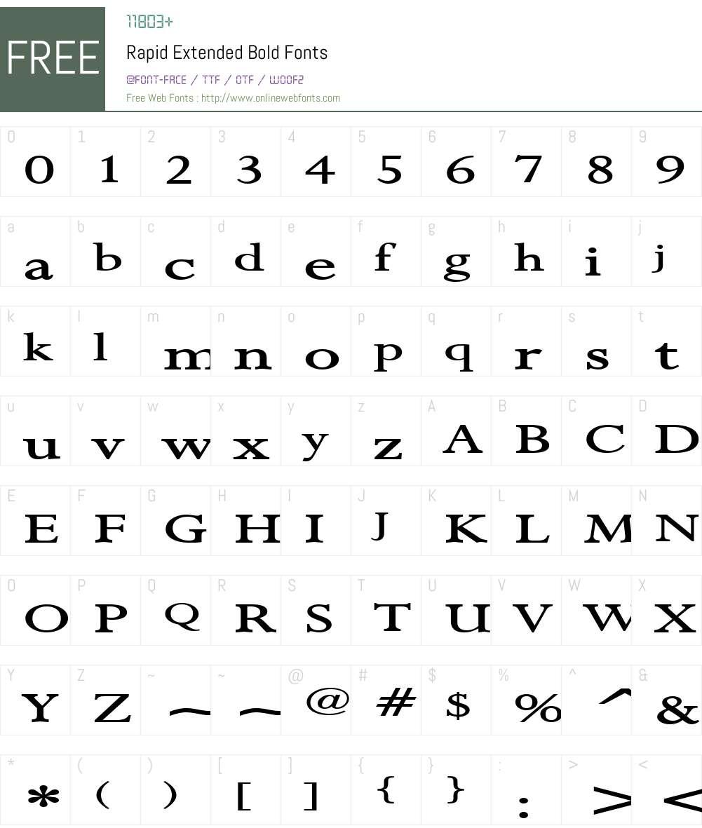 Rapid Extended Font Screenshots