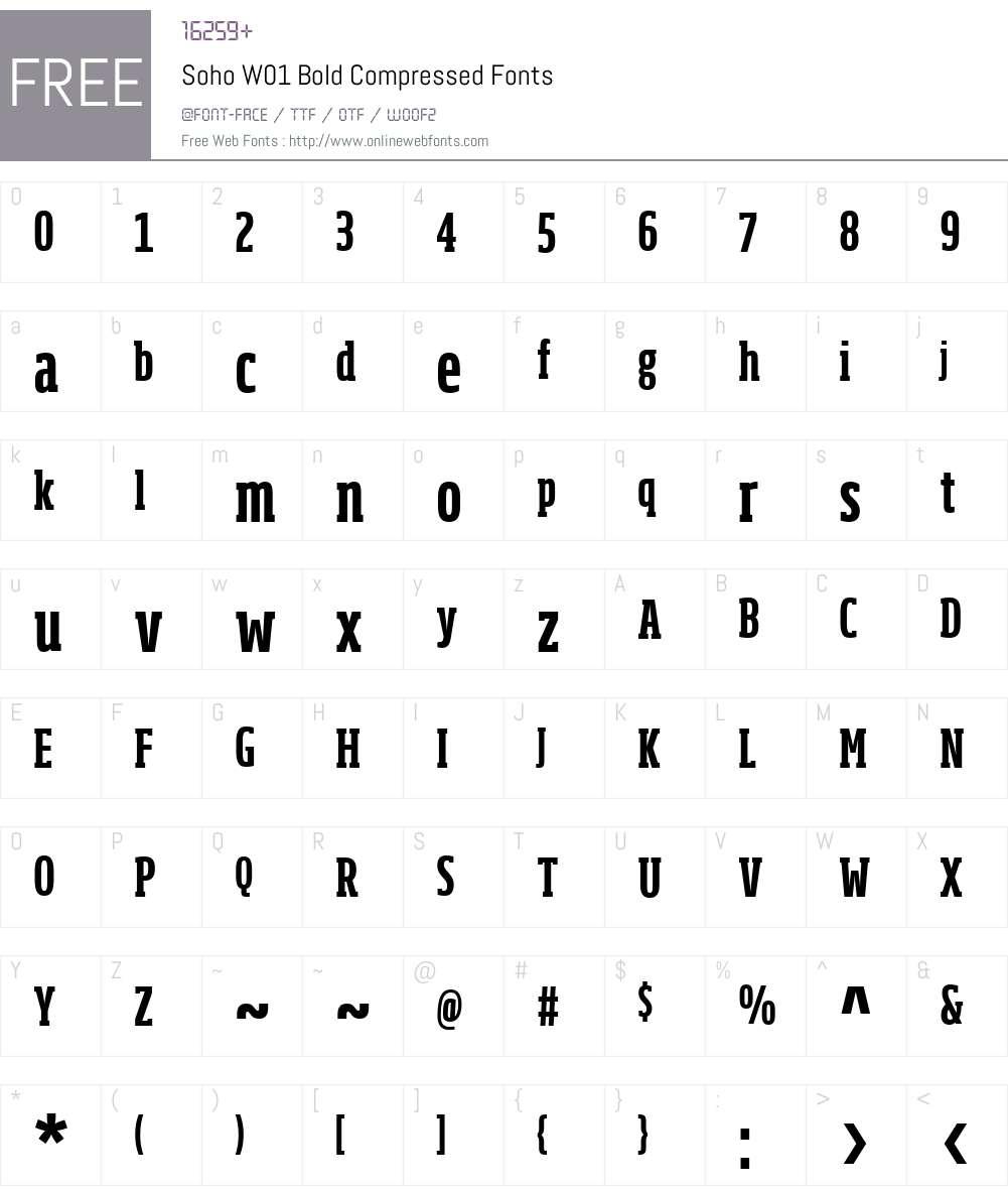 SohoW01-BoldCm Font Screenshots