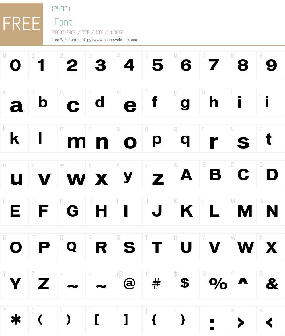 VonnesTTBold Font Screenshots