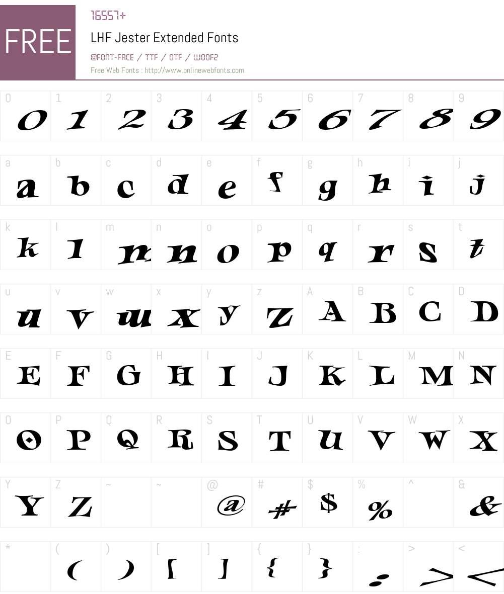 LHF Jester Extended Font Screenshots