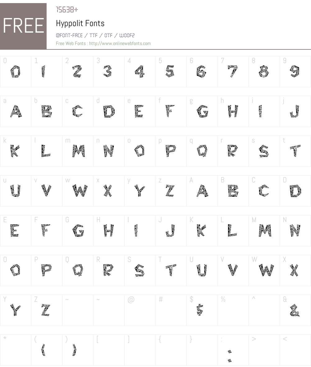 Hyppolit Font Screenshots
