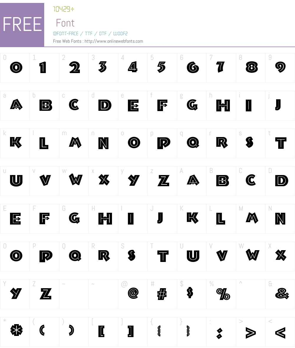 Troglodyte NF Font Screenshots