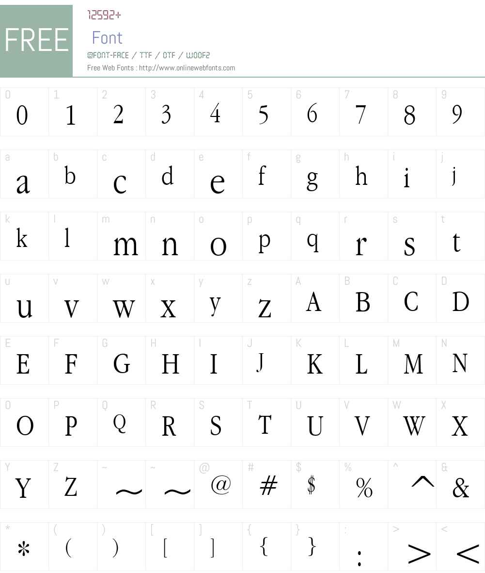 Apple Garamond BT Font Screenshots