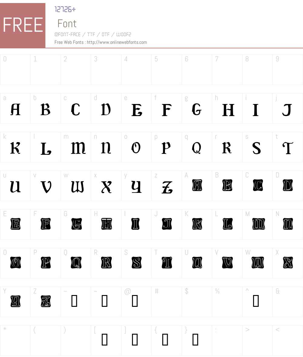 Delaguerra Demo Font Screenshots