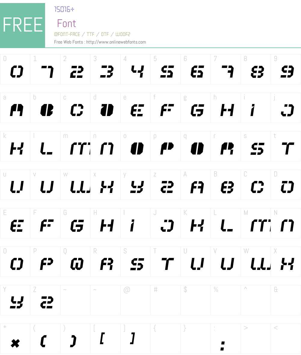 ATRON Font Screenshots
