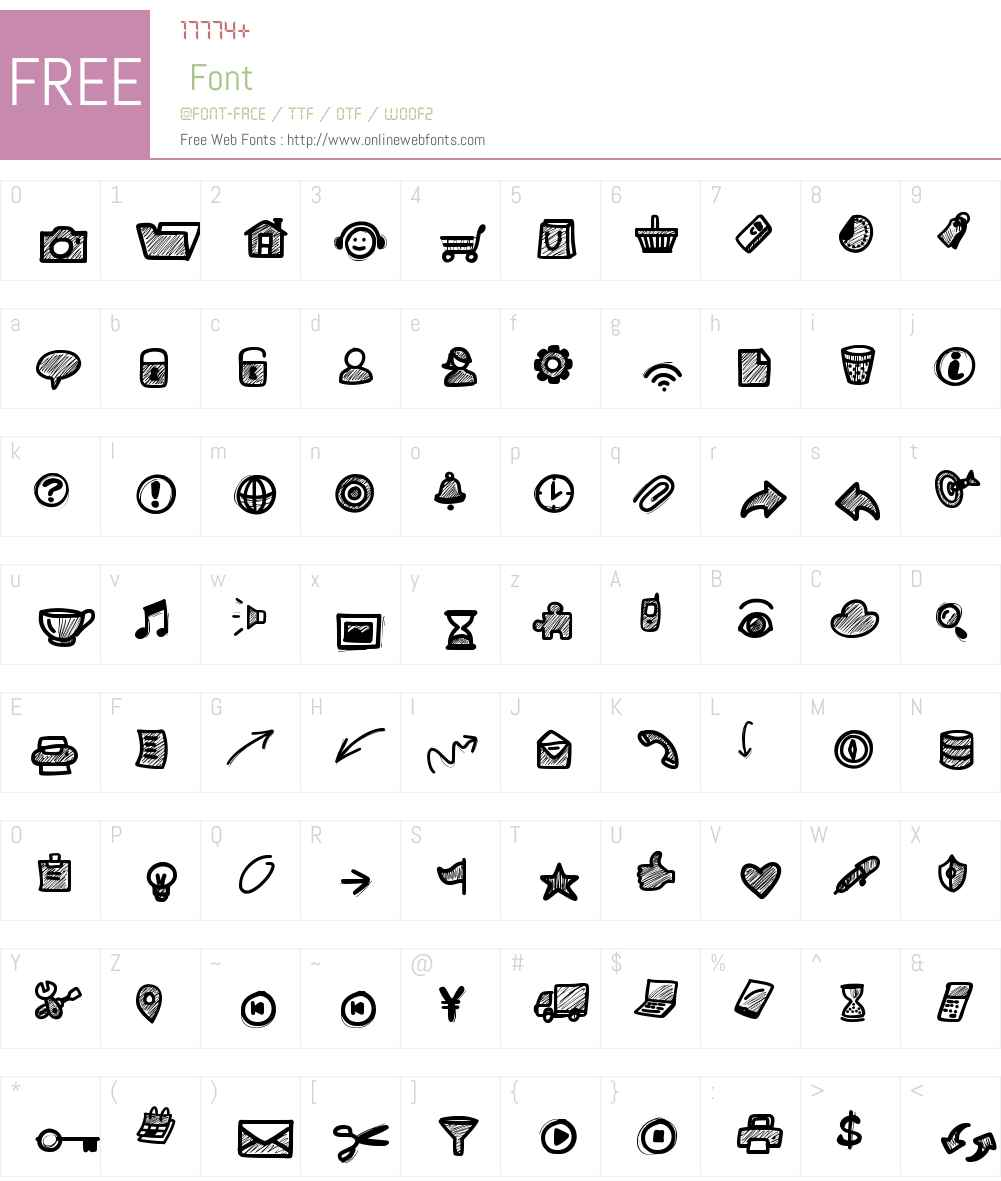 PWSmallIcons Font Screenshots