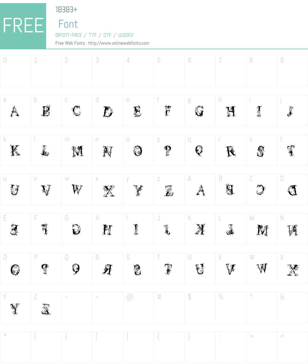 decemberice Font Screenshots