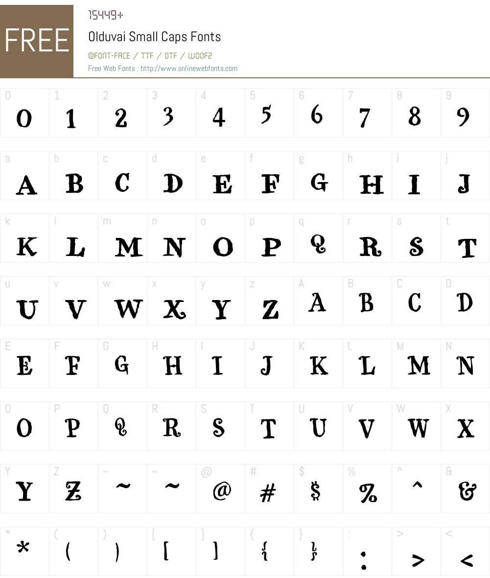 Olduvai Small Caps Font Screenshots