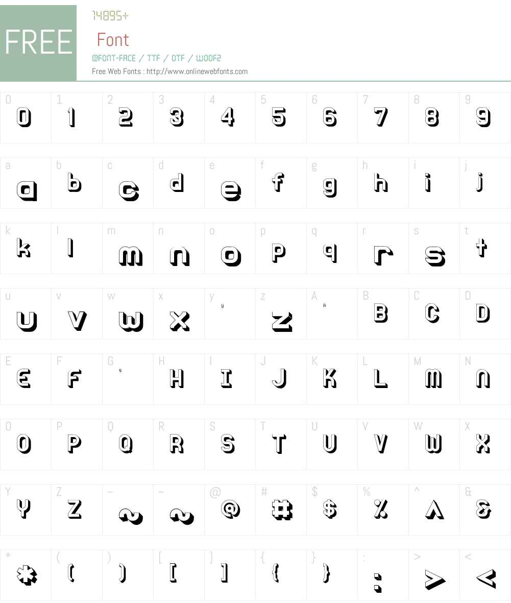 Knochen Font Screenshots