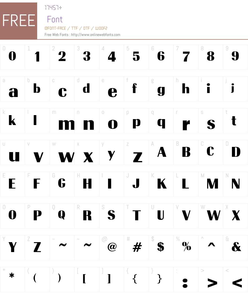 TrabantBold Font Screenshots