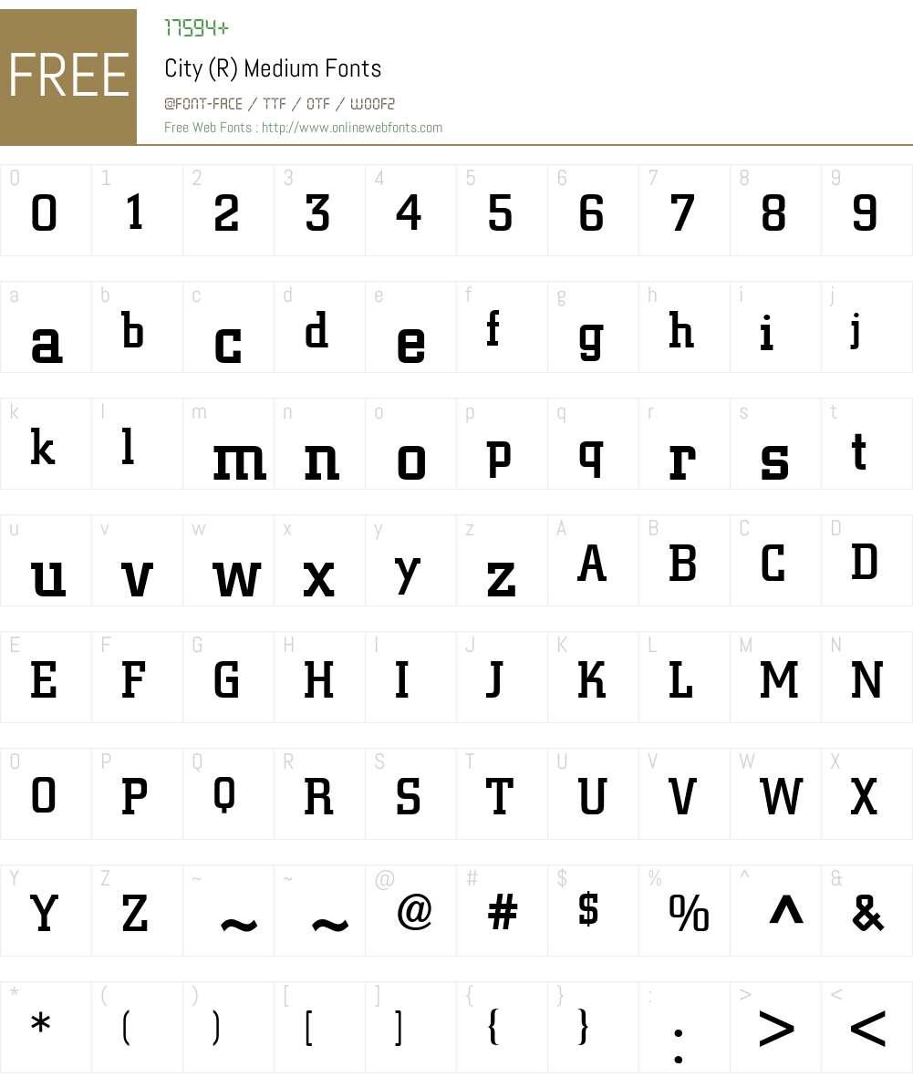 City BQ Font Screenshots