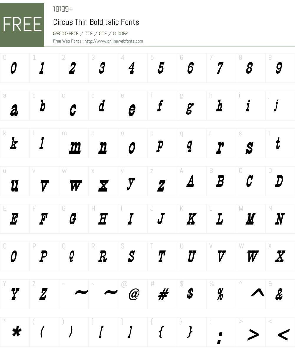 Circus Thin Font Screenshots