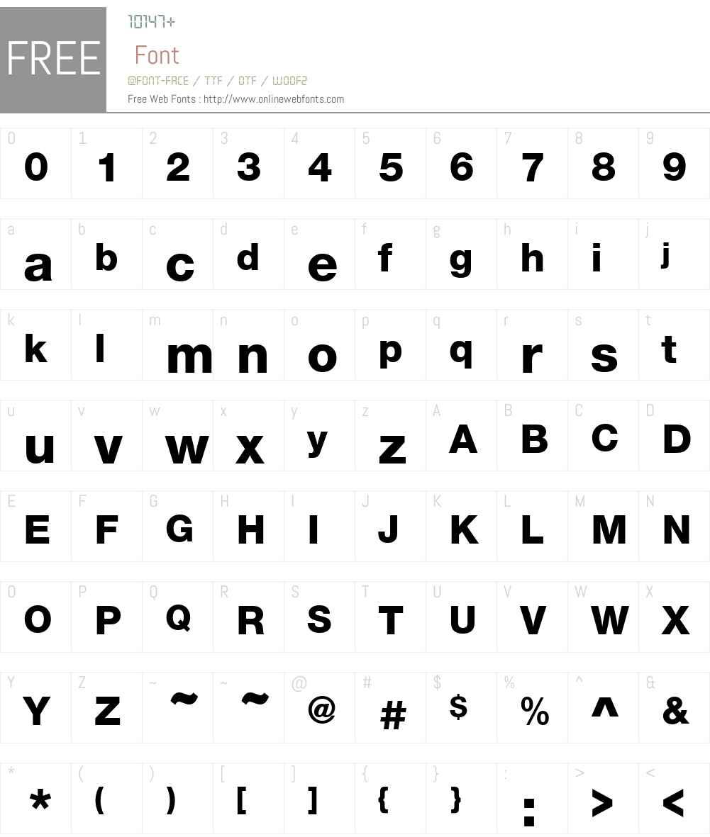 NimbusSanNovHeaW00-Regular Font Screenshots