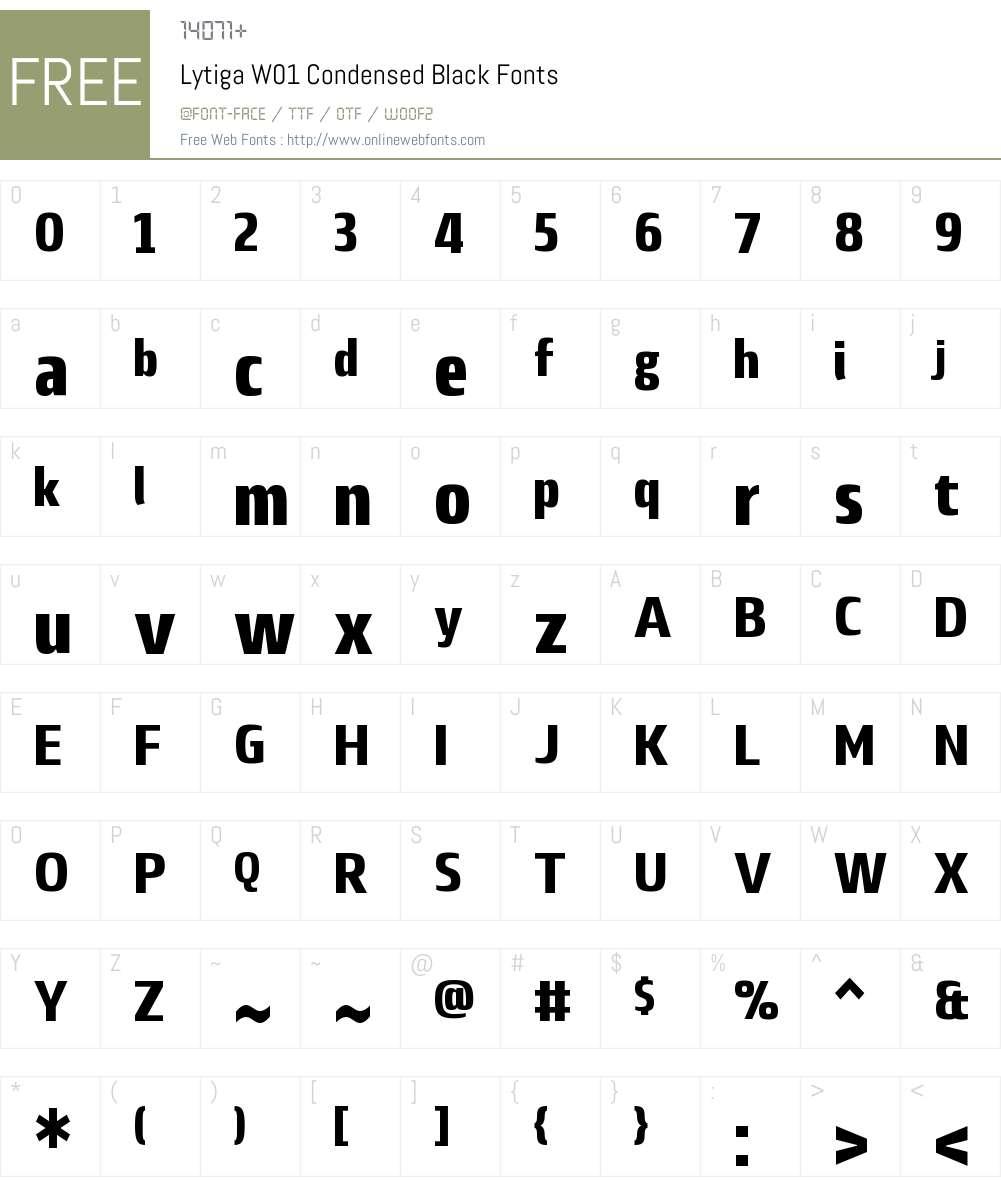 LytigaW01-CondensedBlack Font Screenshots