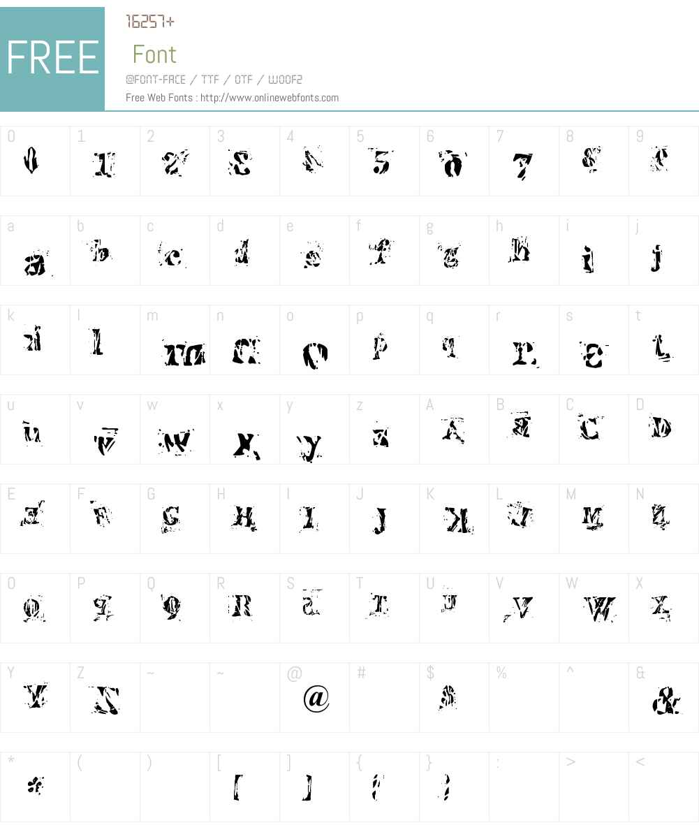 Imperfetta Font Screenshots