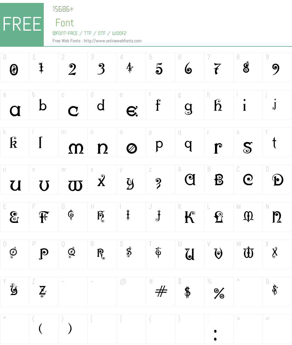 Karnac One Font Screenshots