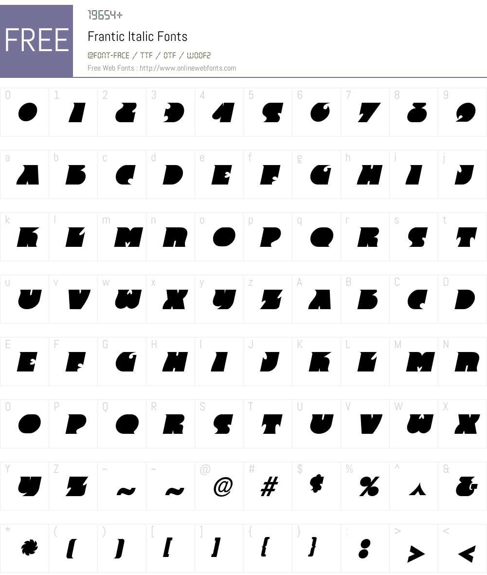 Frantic Font Screenshots