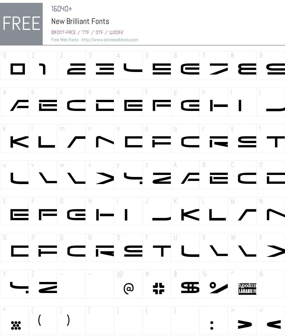 New Brilliant Font Screenshots