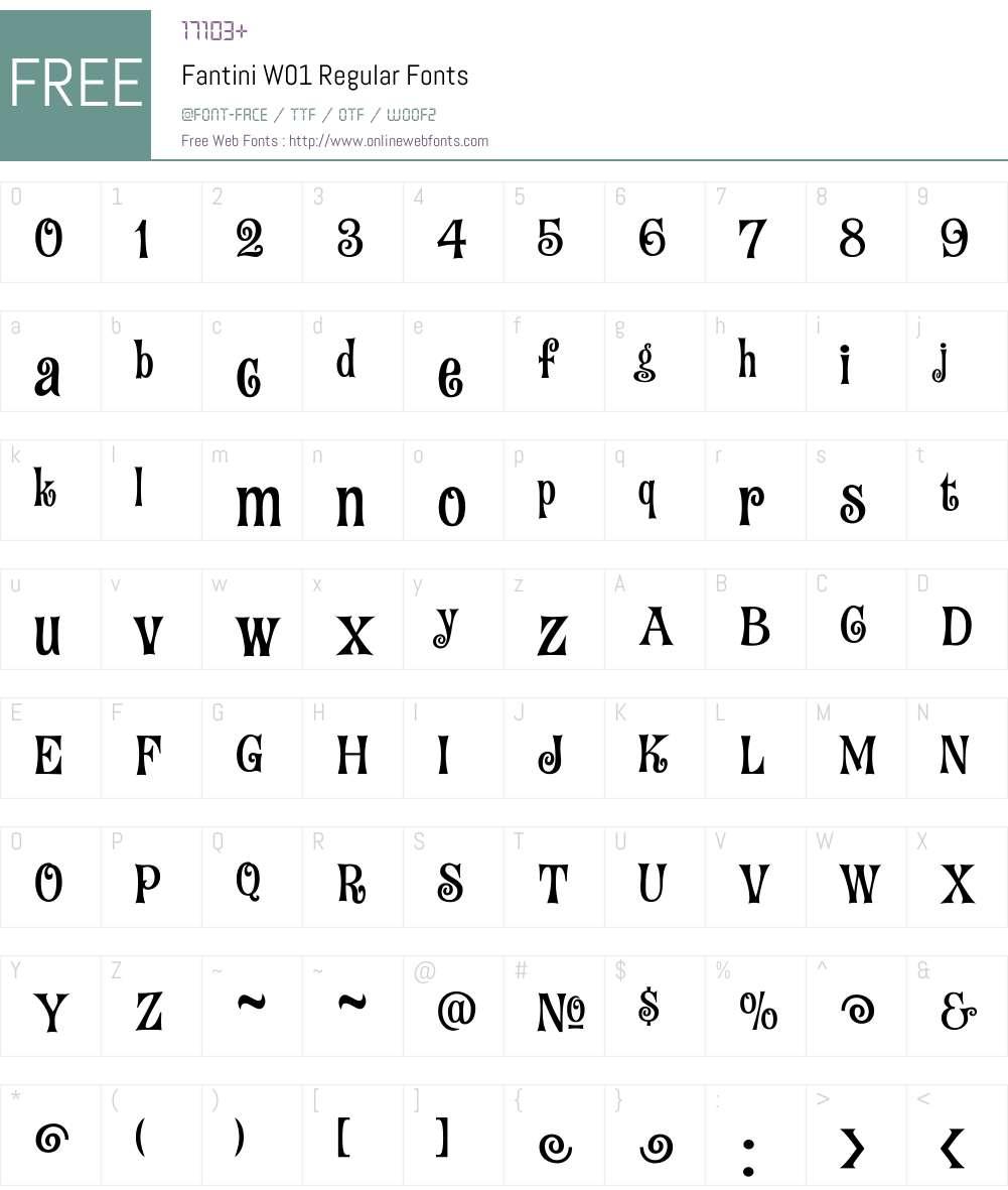 FantiniW01-Regular Font Screenshots