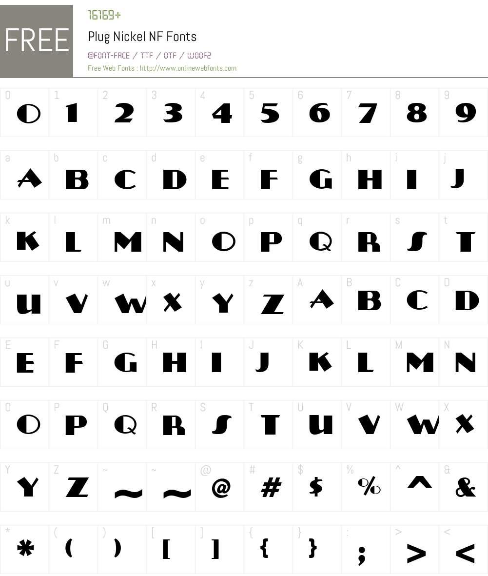 Plug Nickel NF Font Screenshots