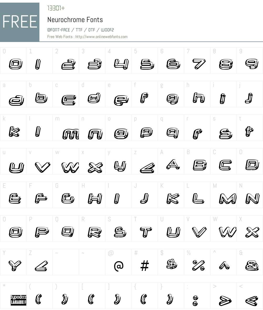 Neurochrome Font Screenshots