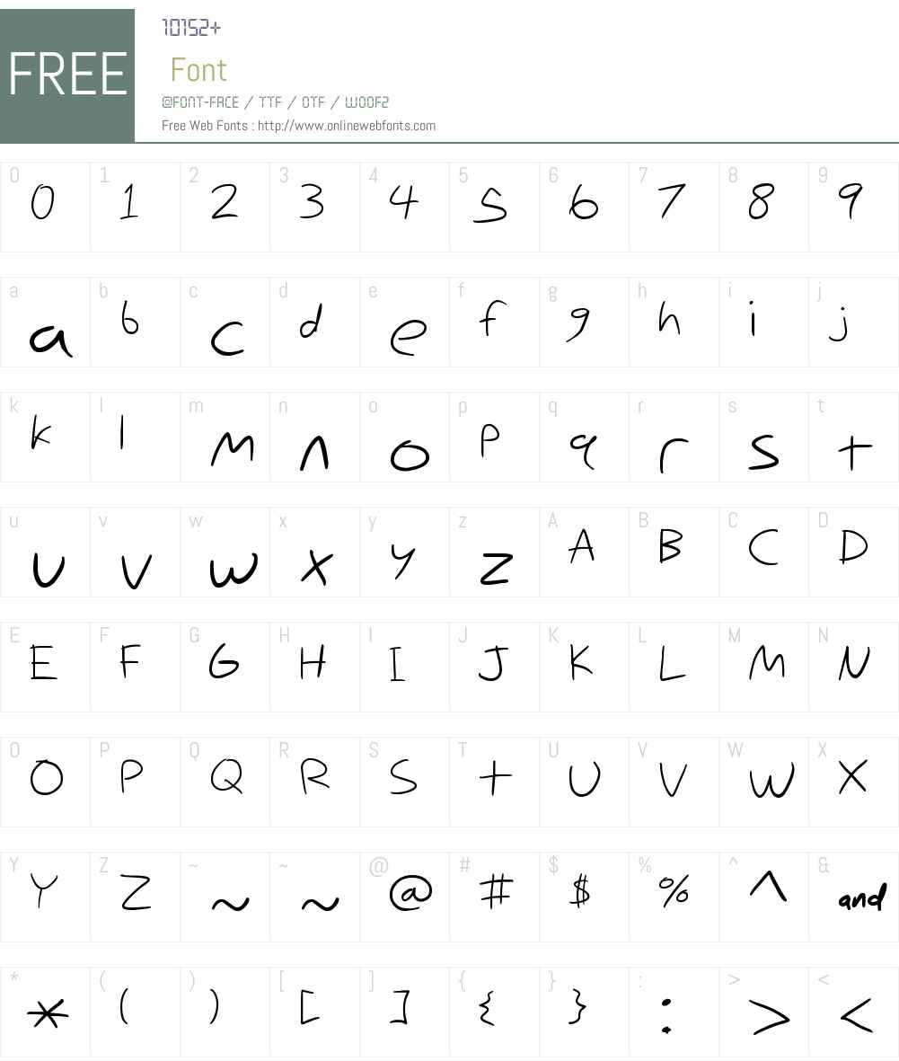 Nihilschiz Handwriting Font Screenshots