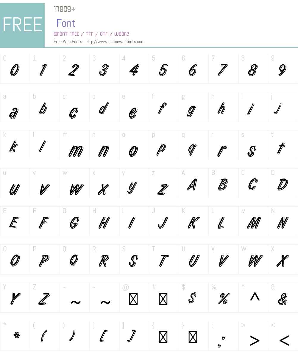 Laura Std Font Screenshots