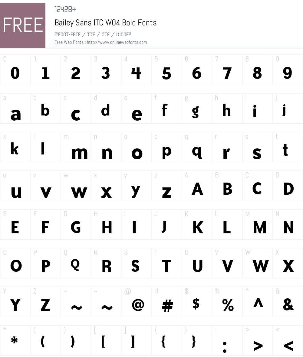 ITC Bailey Sans Font Screenshots