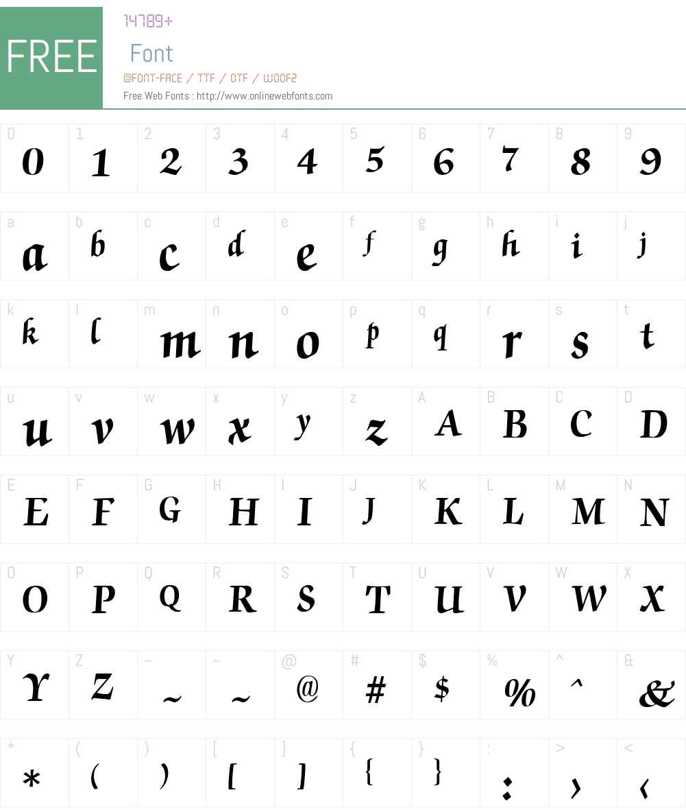 Chancery Font Screenshots