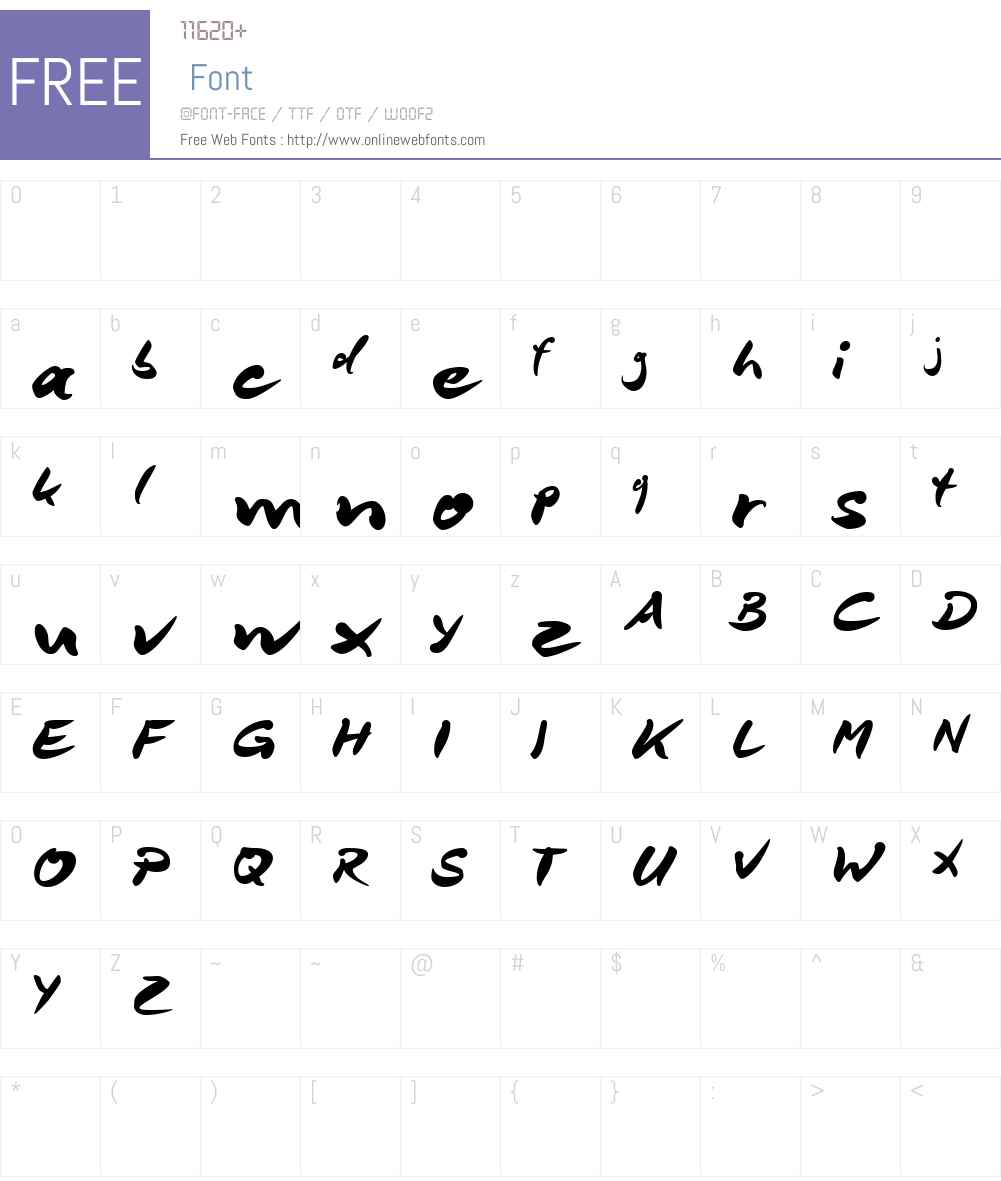DeBorstel Brush Reduced Font Screenshots